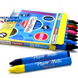 Crayones Triangulares Gruesos Carmen c/12