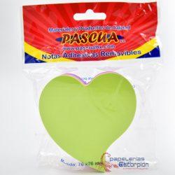 Block de Notas Adhesivas Pascua en Forma de Corazón