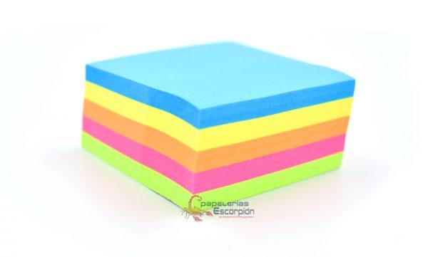 notas adhesivas removibles 5 colores
