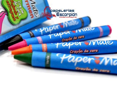 CRAYONES REDONDOS CARMEN/PAPER MATE EXTRAGRUESOS 4